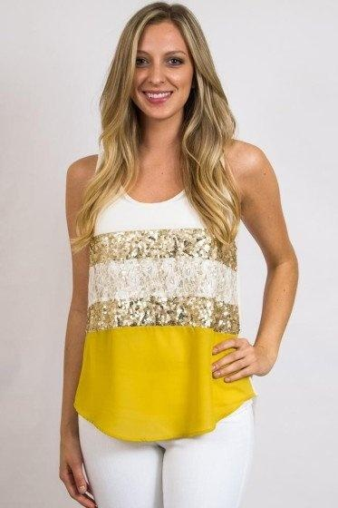 Yellow Sequin Blouse 14