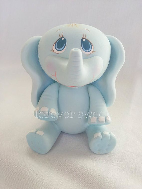 ... www.etsy.com/listing/118626374/baby-elephant-cake-topper-baby-shower