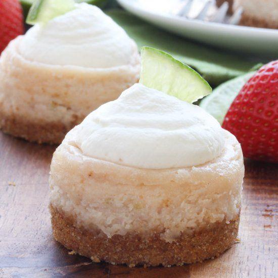 Mini Strawberry Margarita Cheesecakes   Desserts&Sweets   Pinterest