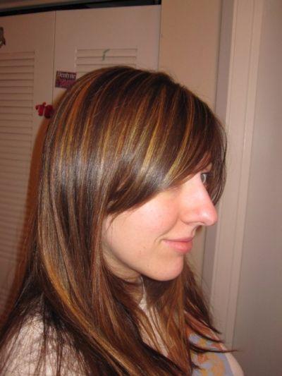 Bronze Highlights In Brown Hair Dark brown hair with bronze