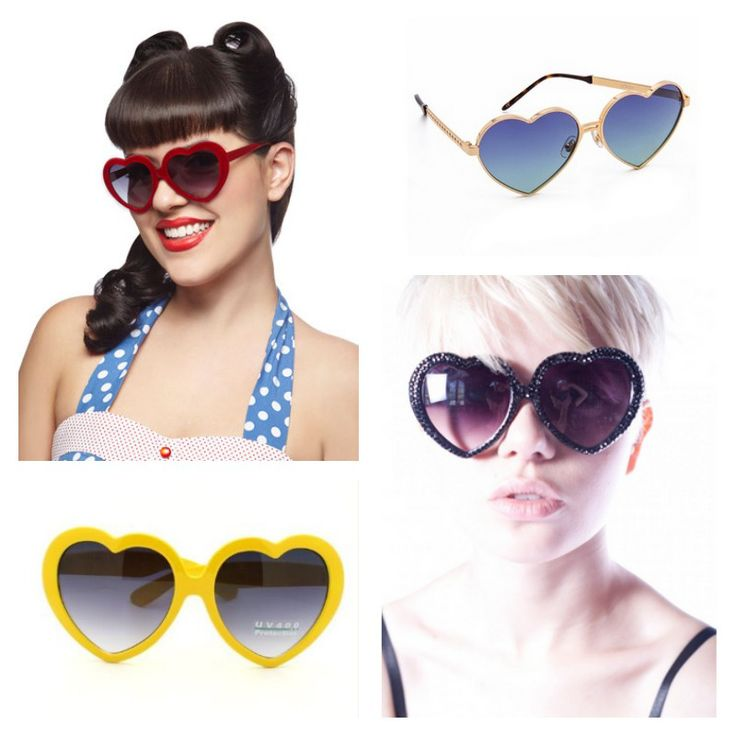 Heart-shaped sunglasses are in for spring. Do you dare?