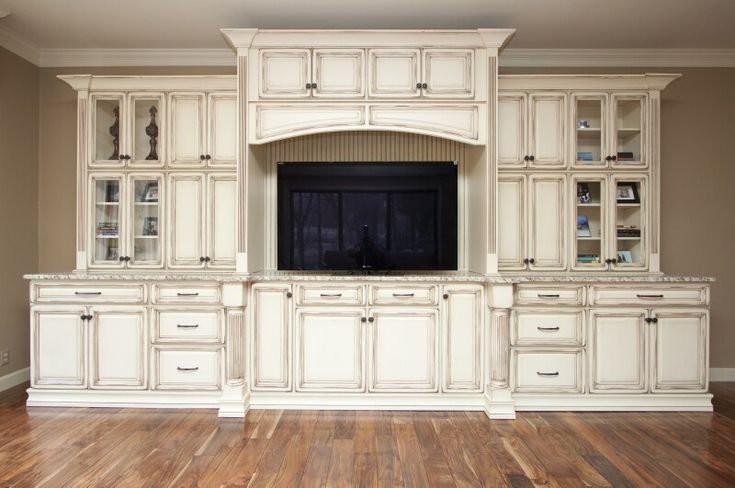 Built in tv cabinet home pinterest for Built in entertainment center using kitchen cabinets