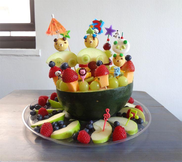 Fruit Birthday Cake  Kids birthday ideas Party Time!  Pinterest