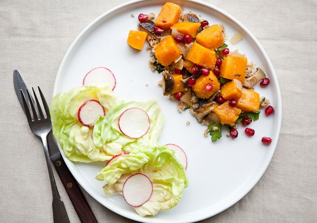 Butternut Squash-Shiitake Ragout with Butter Lettuce Salad by ...