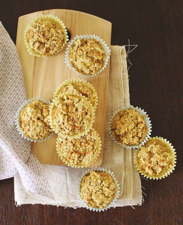 Gingered Carrot Millet Muffins