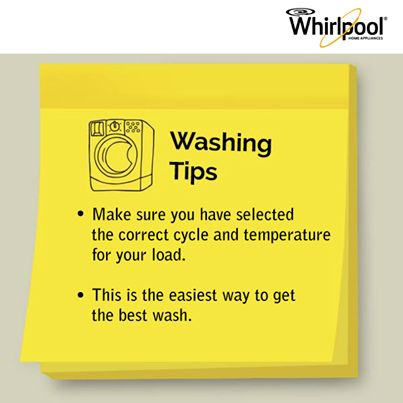 #Whirlpool #Fabric #Care #Tip #WashingTip #Laundry