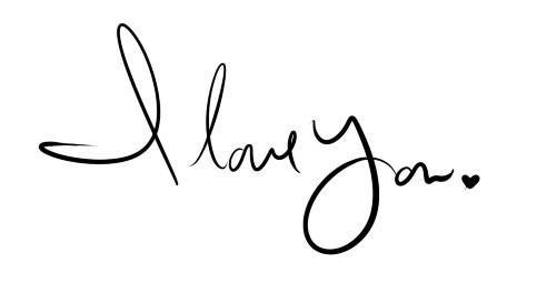 i love you in cursive font - photo #22