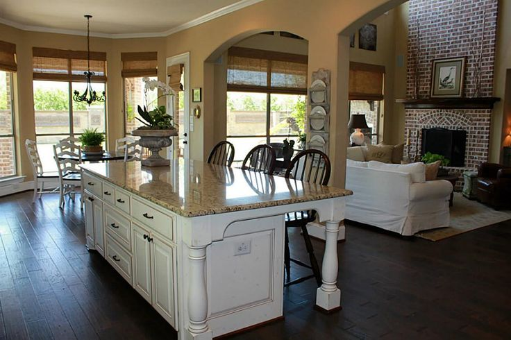 large kitchen island with seating kitchens pinterest