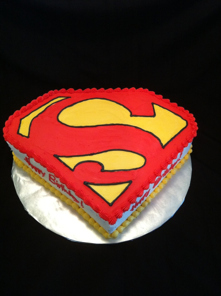 Pin superman logo cake ideas and designs for Superman logo template for cake