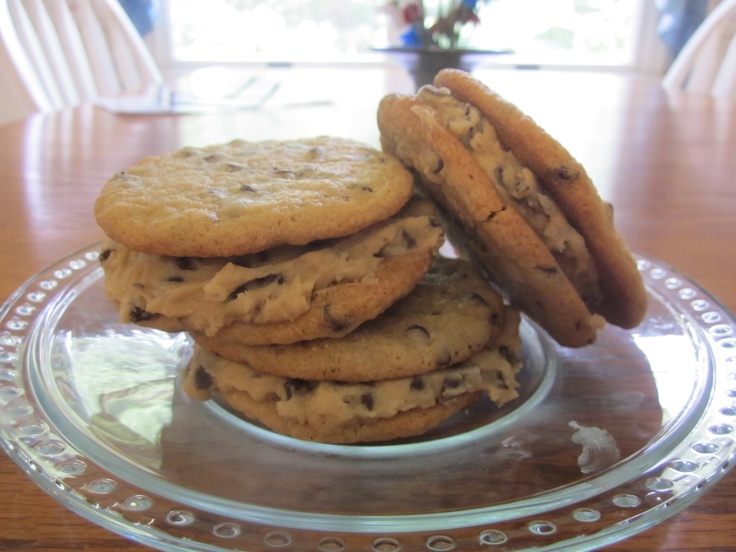 chocolate chip cookie dough sandwiches | Working my way through my pi ...