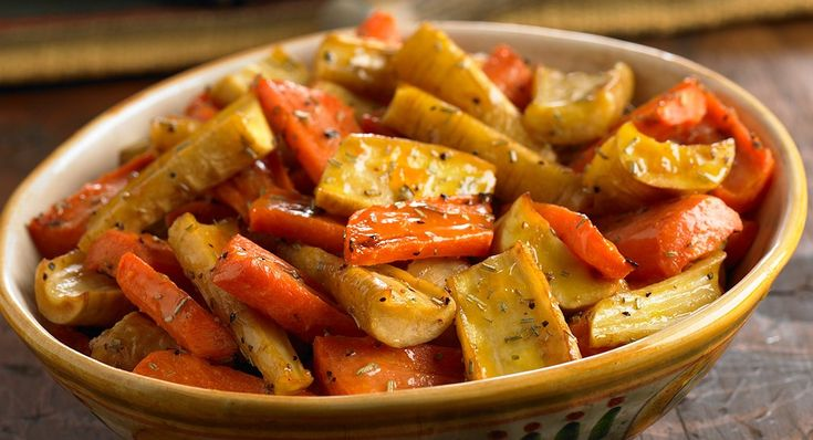 Apricot Rosemary Roasted Parsnips and Carrots - from McCormick
