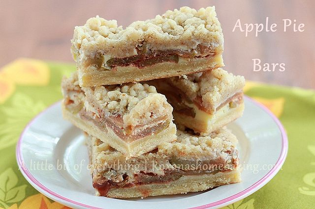 Apple pie bars from Roxanashomebaking.com Cinnamon flavored bars with ...