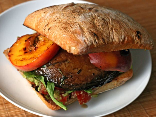 Grilled Portobello And Peach Sandwich Recipes — Dishmaps