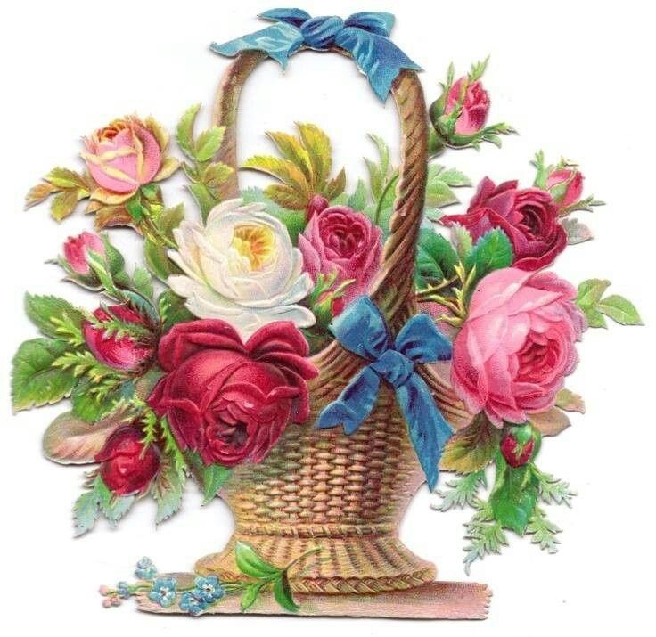 Clipart Flower Baskets : Basket of flowers clip art imgkid the image