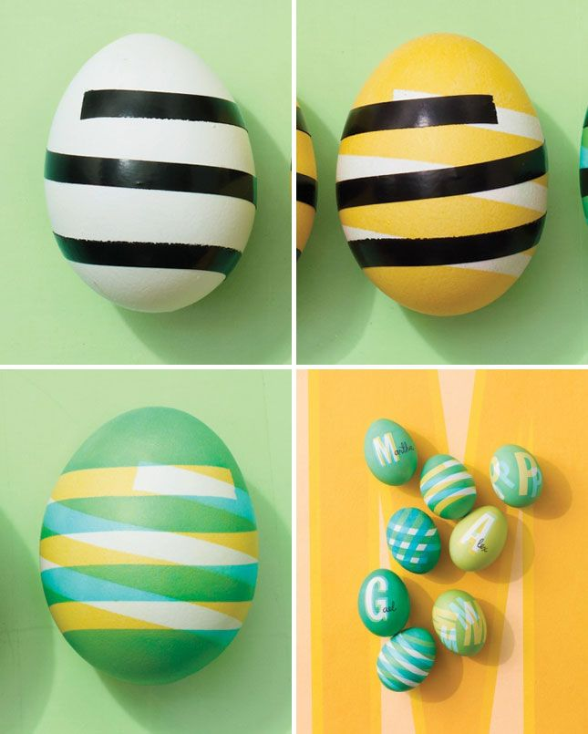 Graphic patterned eggs   40 Creative Easter Eggs