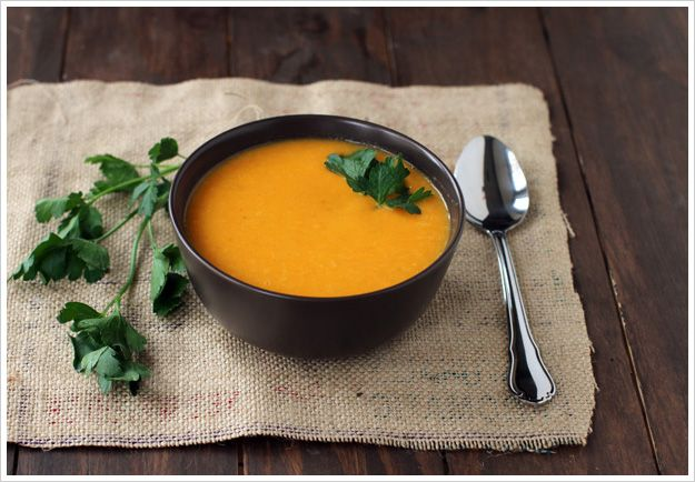 Carrot Ginger Soup, an easy vegan soup full of flavor, with a kick of ...