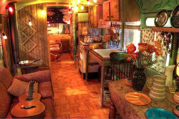 vintage hippie bus