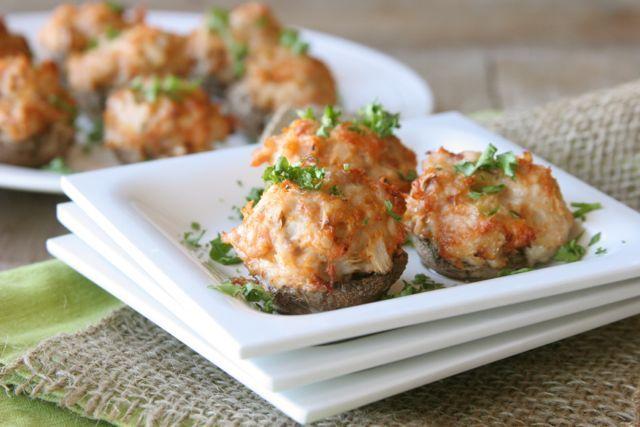 SCD Turkey Sausage Stuffed Mushrooms (*Use fresh pressed garlic...)