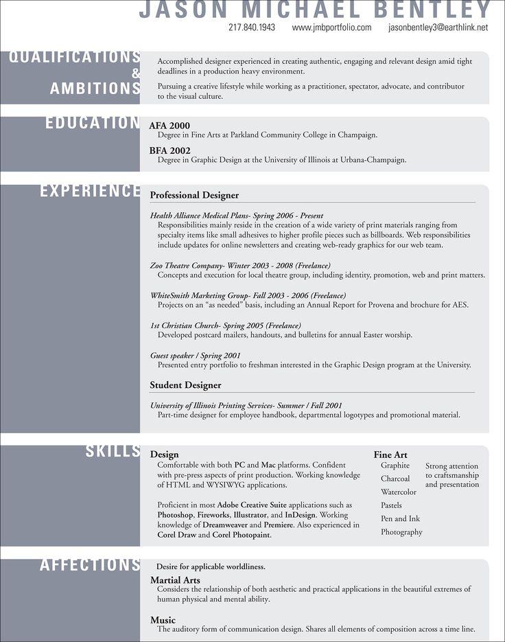 unique resume styles
