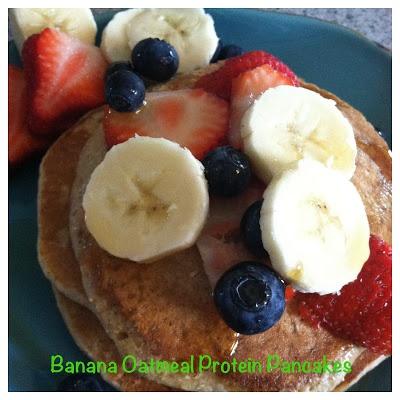 Banana Oatmeal Protein Pancakes | housewive recipes | Pinterest