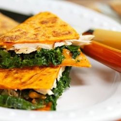 Turkey, kale and cheese quesadillas by theperfectpantry
