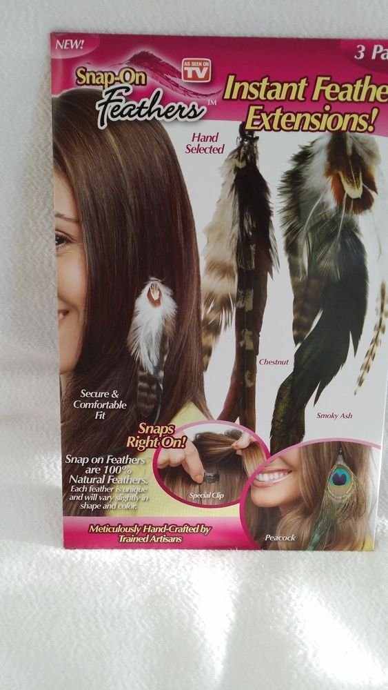 Clip In Feather Hair Extensions As Seen On Tv 45