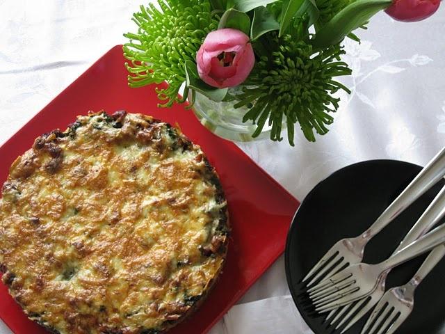 Southwestern Quiche with Cornbread Crust and Linguica