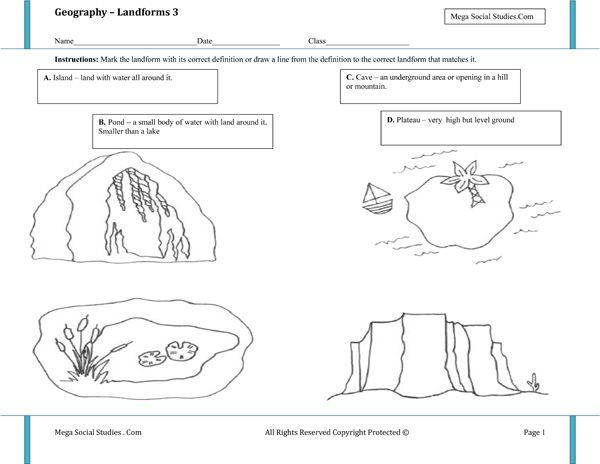 Landforms worksheet #3 | Homeschooling: Earth Science | Pinterest