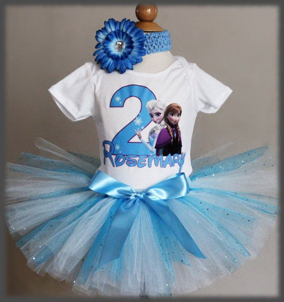 Frozen Birthday Outfit, 1st, 2nd, 3rd, 4th Birthday Frozen Outfit, Tu ...