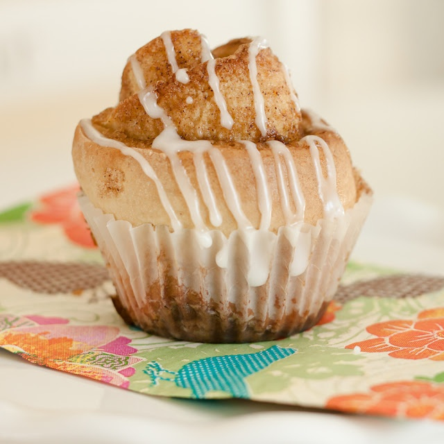 My friend Sarah made these quick and easy cinnamon roll muffins. Visit ...