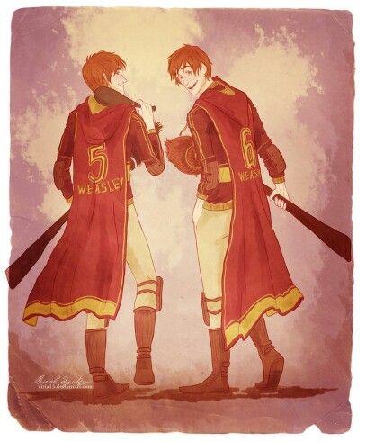 Harry Potter - Fred & George Weasley (art by Viria)