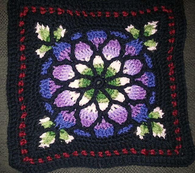 Free Crochet Pattern For Stained Glass Window Afghan Traitoro For