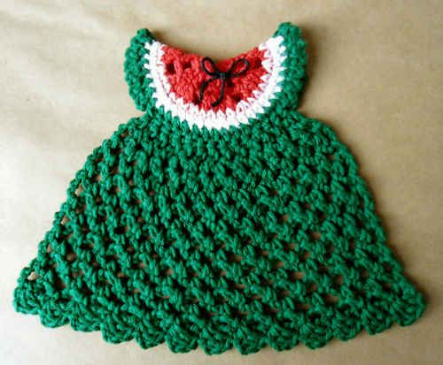 Free Crochet Watermelon Dress Pattern : Pin by Valerie Speck Papineau on Crafts Pinterest