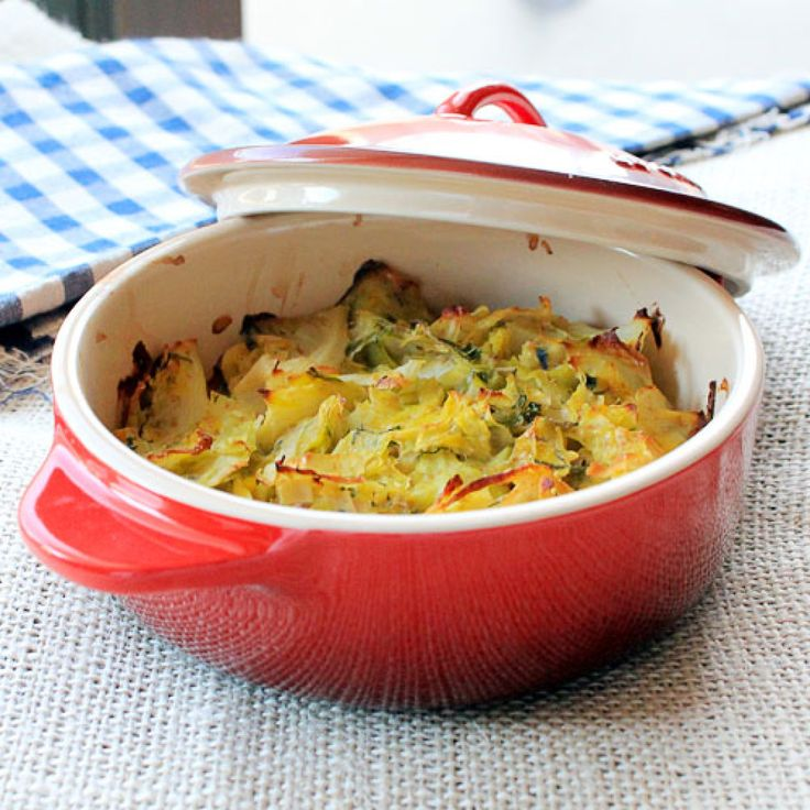 This is amazing! Cabbage and Leek Gratin | food (yum) | Pinterest
