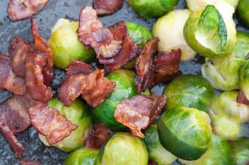 Apple Street Farm Roasted Brussels Sprouts with Shallots & Bacon TIp ...