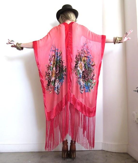 bohemian bed jacket