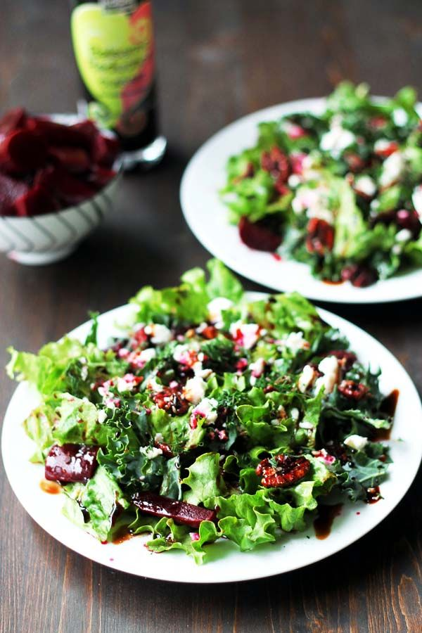 Pickled Beet and Goat Cheese Salad with Maple Roasted Pecans   http ...