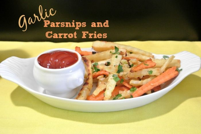 Crispy Garlic Parsnips and Carrot Fries are oven baked and make a ...