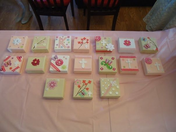 baby shower craft idea canvas art gift ideas pinterest
