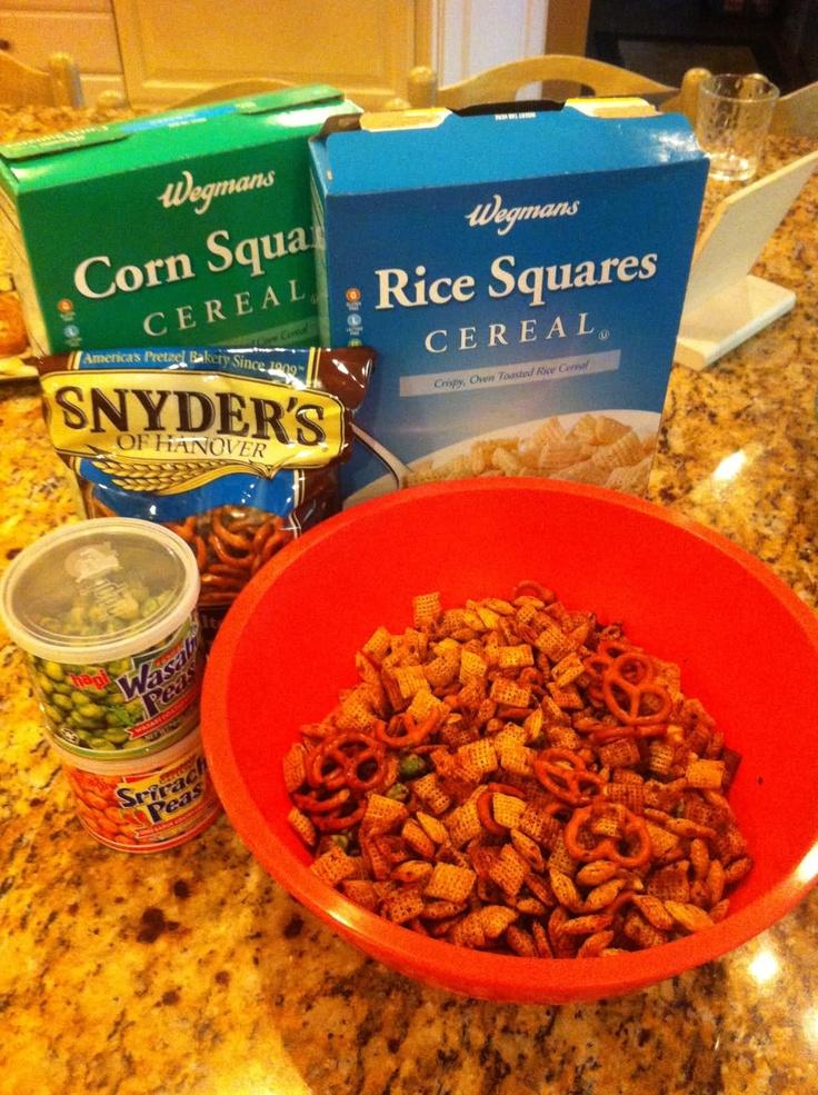 Sriracha Chex Mix | App's and 'sserts | Pinterest