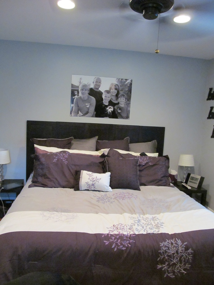 bedroom purple and gray i love this bedding and the color scheme