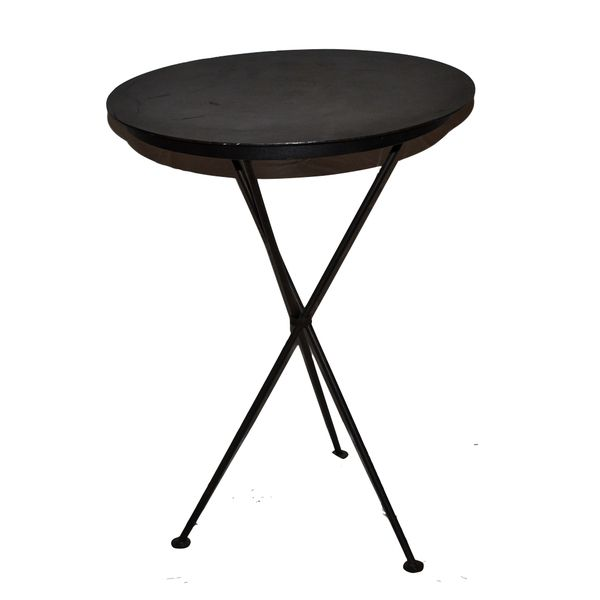 Pair of small metal patio side tables move loot for Small patio table for sale