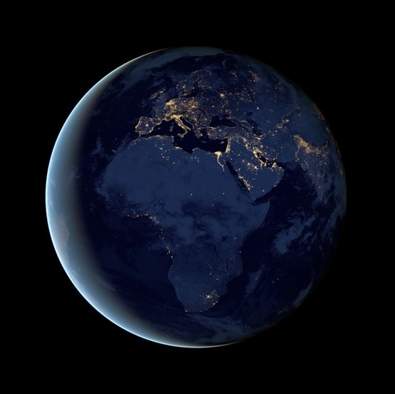 nasa night view of earth - photo #23