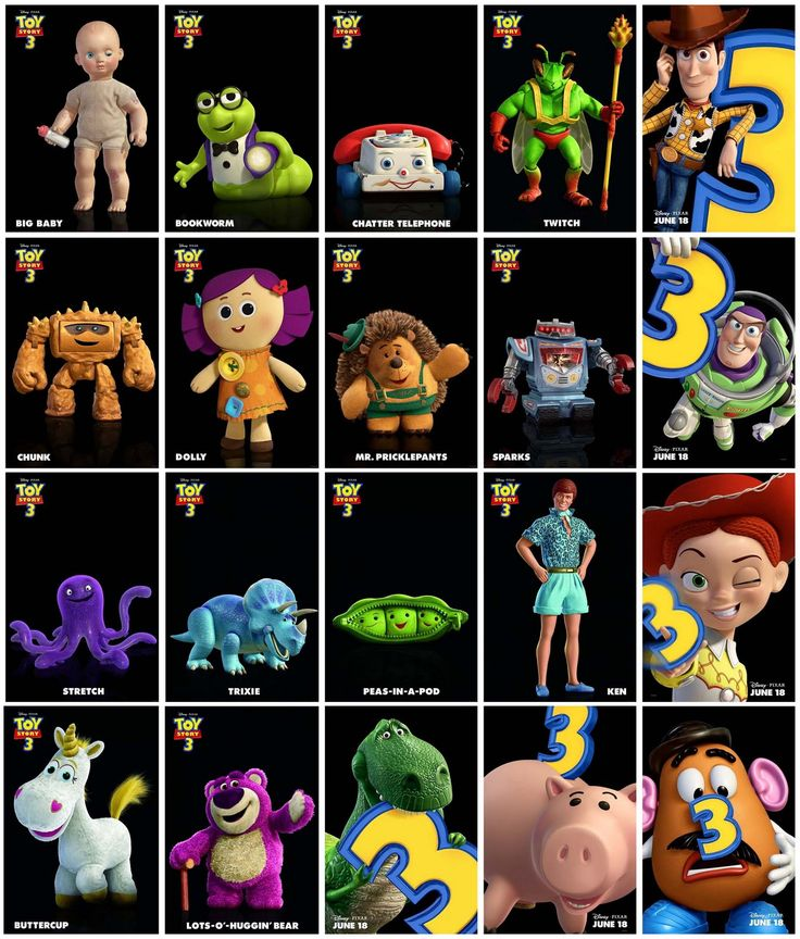Toy Story Character List : The best animated movie toy story wallpaper