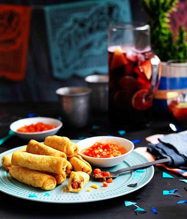 Potato Taquitos with Salsa Roja... | I Heart Food Part 3... | Pintere ...