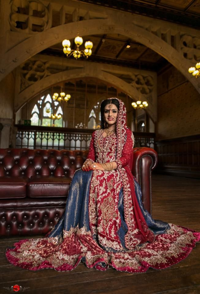 This is one Pakistani bride with excellent taste, this lengha is ...