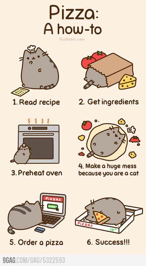 Pusheen makes a pizza | Funny & Cute | Pinterest