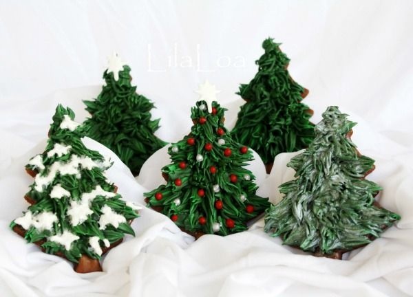 christmas tree cookies | Cookies | Pinterest