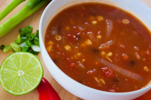 Vegan Tortilla Soup Recipe | Clean Eating | Pinterest