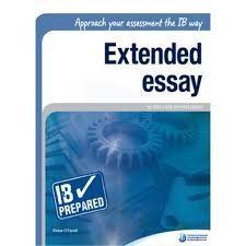 Ib extended essay categories